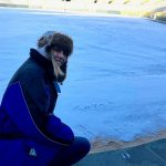 Fans are not allowed on the field, but there was nothing said about signing your name in the sno