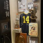 Locker-sized exhibits of players and coaches enshrined in Canton.