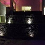 Night light at fountain near Sun Bar