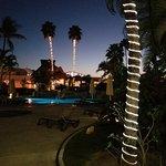 Night lights near the pool