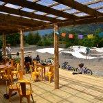 Cafe Pescador en el Parque Hueñu hueñu junto al pump track para bicicletas, bmx, rodas, etc!