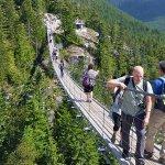 on the suspension bridge