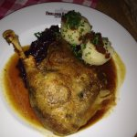 Roast Goose with Dumplings & Red Cabbage