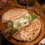 mushroom & spinach quesadillas