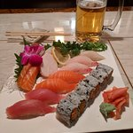 Sushi & Sashimi Combo.  Great selection of fish and flavor. Enjoyed and filled up.