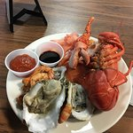First trip to the buffet (they only let you take one lobster at a time)