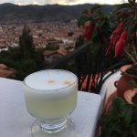 Pisco Sour on the rooftop deck