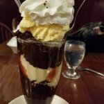 Fabulous brownie ice cream sundae that we shared. Each time we go we get this