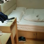 Hotel room is small u can put your bag or item under the bed