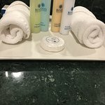 all important toiletries - they have moisturiser and conditioner yay!