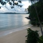 Secluded sandy beach at the west end of the resort. It is very near but there are stairs.