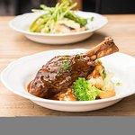 Juicy tender lamb shank. A favorite amongst our regulars
