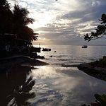 Sunset towards the beach bar