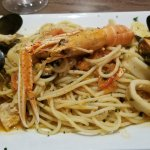 Fruitta de mare. Very tasty. All seafood was perfect cooked and not chewy.