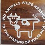 Lo mejor!!, nadie murio en la produccion de tu comida :-)