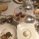 Dessert! Gold! Fancy Dishes! Edible arrangements! YUM!