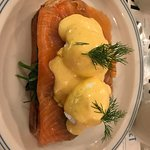 eggs benny - smoked salmon and poached eggs