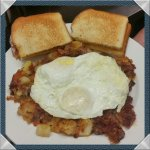 Edwards corned beef hash and eggs
