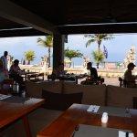 breakfast area overlooking the ocean