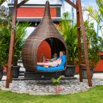 Mesari Beach restaurant at Mangrove beach, nusa lembongan bali