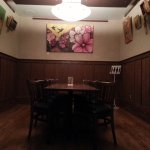 our private dining room / Artist's corner