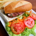 Sandwich de chorizo artesanal