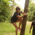 You get to climb a coconut tree!