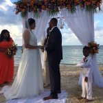 Oh what a beautiful destination wedding my son had in Montego Bay!