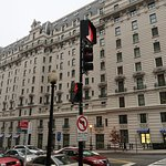 View of the hotel at the corner