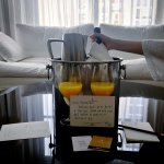 Warm welcome of infinite mimosas from Ambassador Chicago