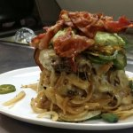 big stack (2) 8oz patties, pepper jack cheese, onions, jalapenos, bacon, house made guacamole..