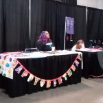 Jason Manns booth (it was his birthday)