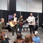 Jason Manns and Louden Swain singing in the vendors room