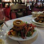 Calamari & garlic prawns