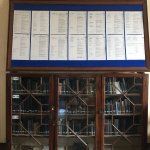The reading room, with a list of all the books.