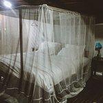 The bed in beach hut