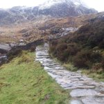 path up to the lake at Tryfan