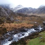 View up to Tryfan next to Lyn Ogwen