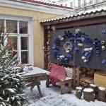 The tiny inner yard of Bogapott cafe/artgallery/studio complex