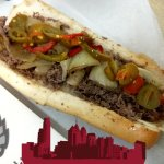 Cheesesteak with sweat pepers