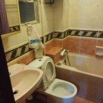 """Bathroom of my """"deluxe"""" dorm"""