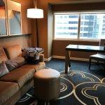 Living area of corner King suite