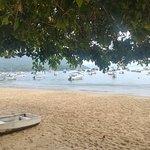 Playa frente a la posada