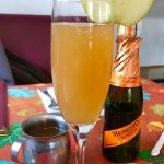 """""""vermosa"""" it's Vermont apple cider with champagne!"""