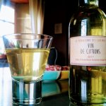 Apéritif maison, Vin de citrons et saucisson