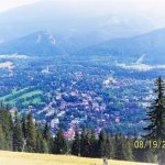 View of Zakopane from the hill.