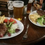 Cask ale and steak and chips!