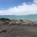 Browns Island black sand beach