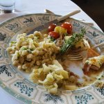 Veal Scallopini with Prosciutto, Manchego Cheese & Spaetzle!