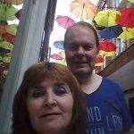 Plein de parapluies décoratifs